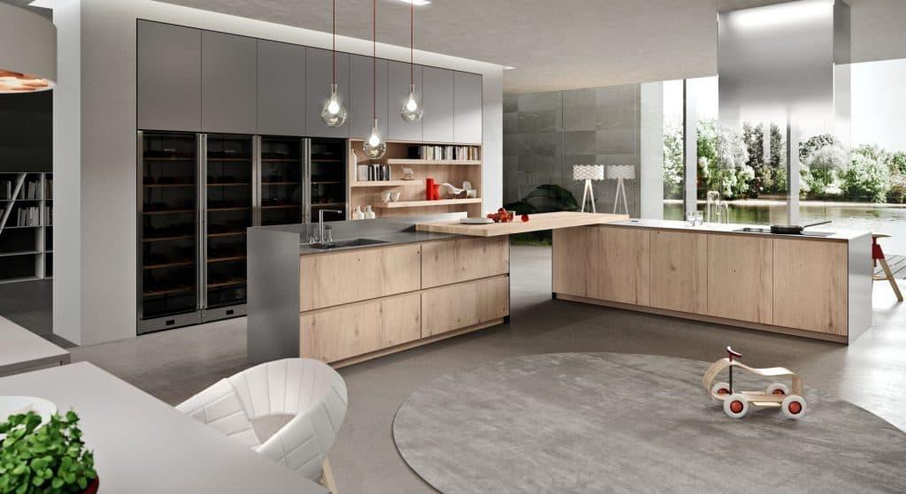 Cozinhas modernas com balcão: vantagens e desvantagens